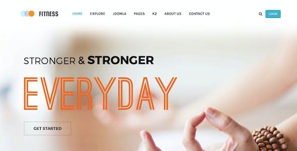 Fitness - Responsive Joomla Yoga Club Template