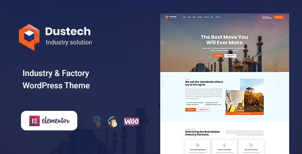 Dustech - Industry & Factory WordPress Theme - Business Corporate