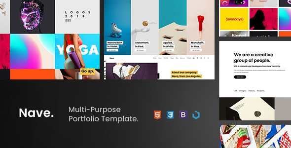 Nave — Multi-Purpose Portfolio Template - Portfolio Creative