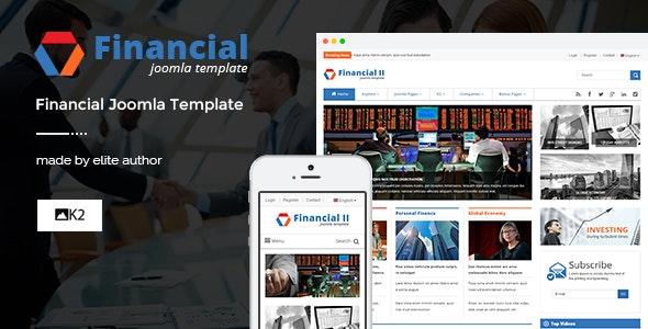 Financial II - Responsive Business Joomla Theme - News / Editorial Blog / Magazine