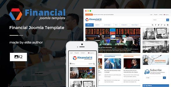 Financial II - Responsive Business Joomla Theme