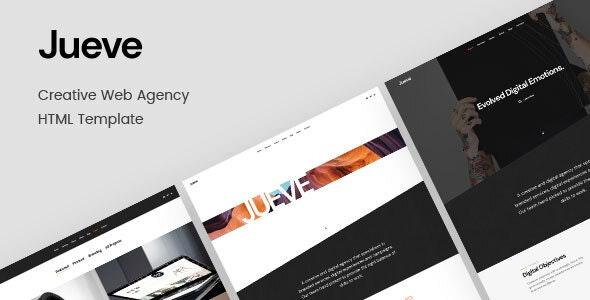 Jueve | Creative Agency Onepage HTML Template - Creative Site Templates