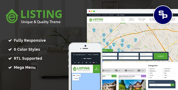 eListing - Responsive Real Estate Joomla Template - Business Corporate