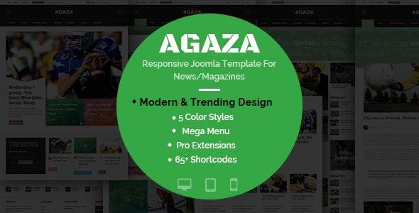 Agaza - Responsive Joomla Template For News/Magazines - Blog / Magazine Joomla