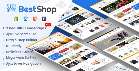 BestShop -  Multipurpose Responsive Shopify Theme with Sections - Shopify eCommerce