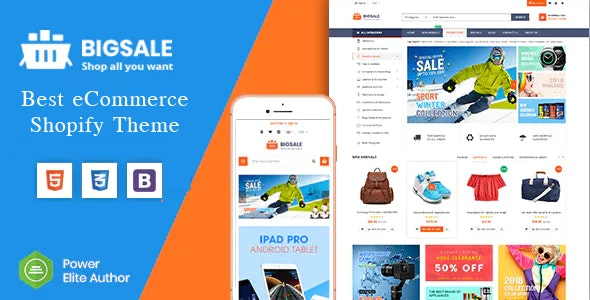 BigSale - The Clean, Minimal & Unlimited Bootstrap 4 Shopify Theme (12+ HomePages) - Shopify eCommerce