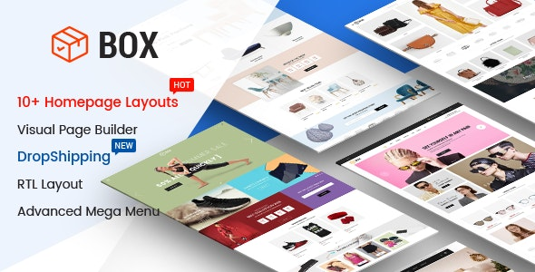 Box - The Clean, Minimal & Multipurpose Shopify Theme with Sections (10+ HomePages) - Shopify eCommerce