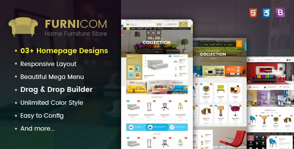 Furnicom - Responsive Drag & Drop Shopify Furniture Theme - Shopify eCommerce