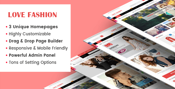 LoveFashion - Responsive Multipurpose Sections Drag & Drop Builder Shopify Theme - Shopify eCommerce