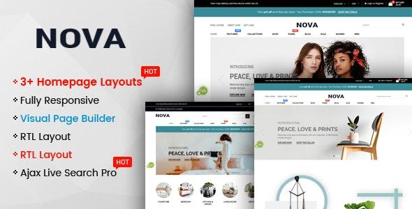 Nova - Multipurpose Drag & Drop Shopify Responsive Theme - Shopify eCommerce