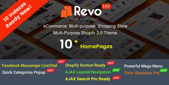 Revo - Creative Multi-Purpose Responsive Shopify Drag & Drop Sections Theme with 10 Layouts Ready - Shopify eCommerce