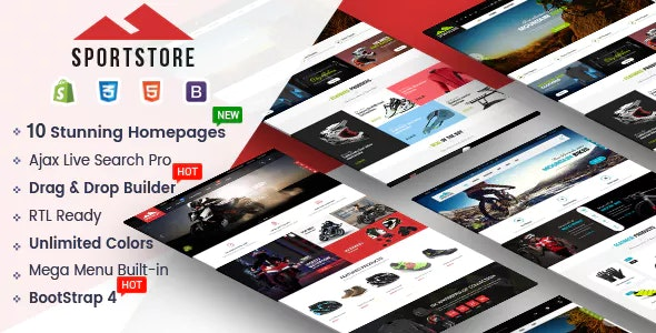 SportStore - Multipurpose Drag & Drop Sectioned Shopify Theme - Shopify eCommerce