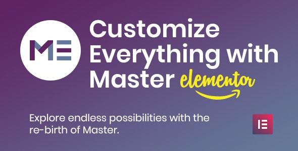 Master Creator - Minimal Elementor Theme - Creative WordPress