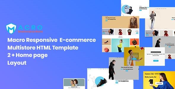 Macro - Ecommerce Multistore HTML Template - Retail Site Templates