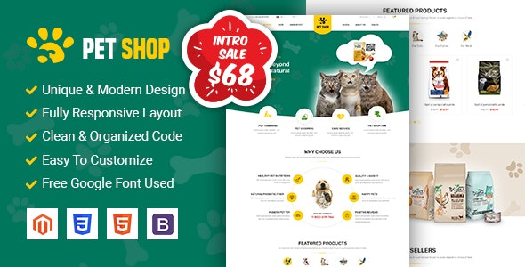 PetShop - Beautiful Responsive Magento 2 Theme - Shopping Magento