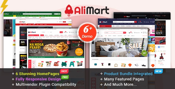 AliMart - Multipurpose OpenCart 3 Marketplace theme ( 6 Designs Updated!) - OpenCart eCommerce