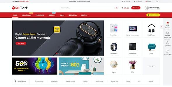 AliMart - Multipurpose OpenCart 3 Marketplace theme ( 6 Designs Updated!)
