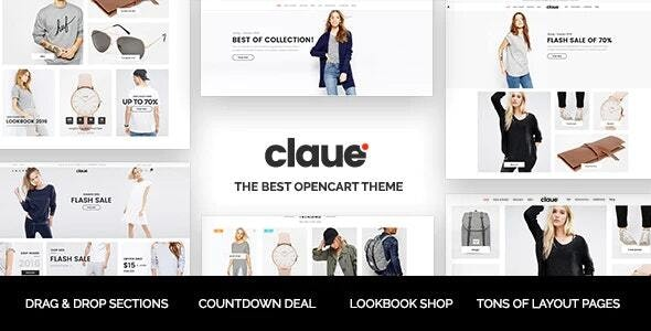 Claue - The Clean & Minimalist OpenCart Theme - OpenCart eCommerce