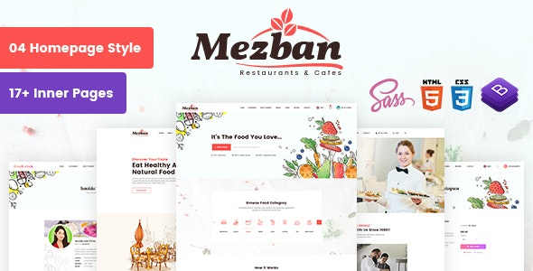 Mezban - Food Delivery, Food Blogger & Restaurant HTML Template - Food Retail