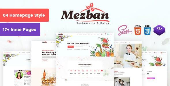 Mezban - Food Delivery, Food Blogger & Restaurant HTML Template