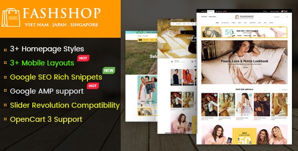FashShop - Multipurpose Responsive OpenCart 3 Theme with Mobile-Specific Layouts - OpenCart eCommerce