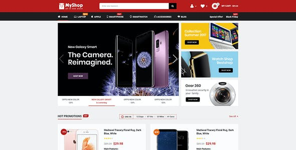 MyShop - Top Multipurpose OpenCart 3 Theme (3+ Mobile Layouts Included)