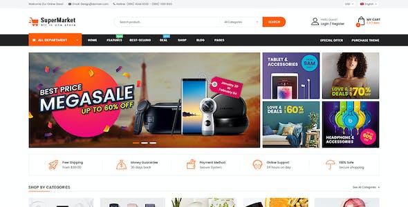 SuperMarket - Multi-purpose Responsive OpenCart 3 Theme (3+ Mobile Layouts Ready)