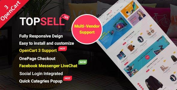 TopSell - Top Multipurpose eCommerce Marketplace OpenCart 3 Theme