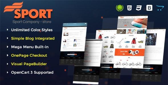 Sport - Multipurpose eCommerce OpenCart 3 Theme - OpenCart eCommerce