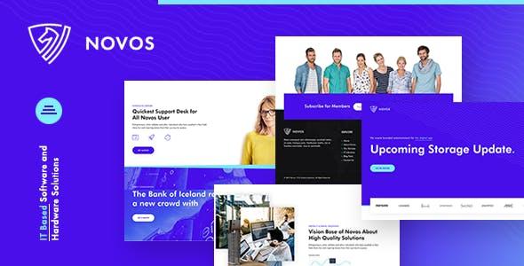 Download Novos   IT Company & Digital Solutions Wordpress Theme
