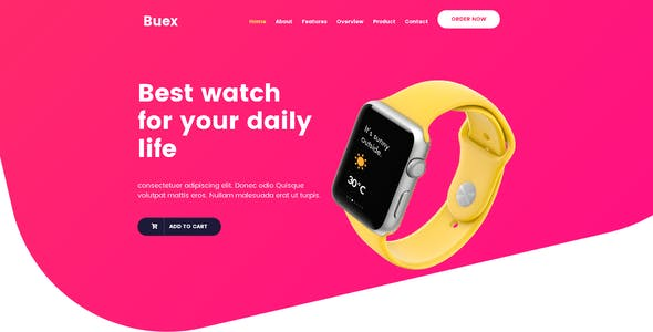 Buex- Product Landing Page HTML Template
