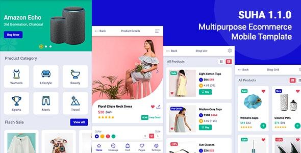 Suha - Multipurpose Ecommerce Mobile HTML Template - Mobile Site Templates