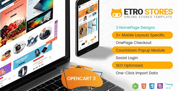 EtroStore - Drag & Drop Multipurpose OpenCart 3 & 2.3 Theme with Mobile-Specific Layouts - OpenCart eCommerce