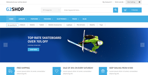 Multipurpose eCommerce OpenCart Theme - G2shop