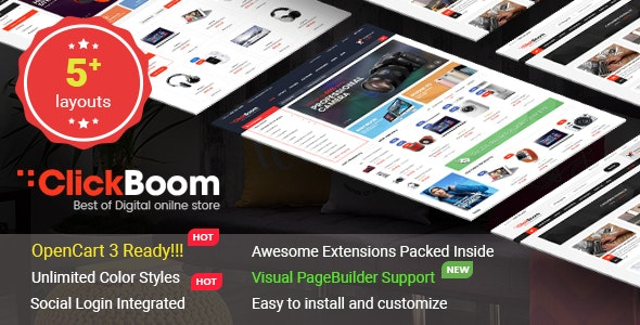 ClickBoom - Advanced OpenCart 3 & 2.3 Shopping Theme With Mobile-Specific Layouts - OpenCart eCommerce