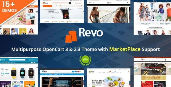 Revo - Drag & Drop Multipurpose OpenCart 3 & 2.3 Theme with 15 Layouts Ready - OpenCart eCommerce