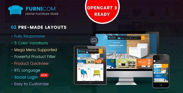 Furnicom - Responsive Multipurpose OpenCart 3 & 2.x Theme - OpenCart eCommerce