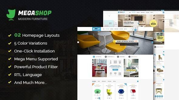 Megashop - Responsive Multipurpose OpenCart Theme - Shopping OpenCart