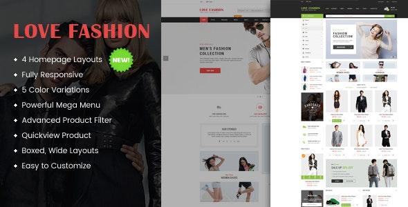 Love Fashion - Responsive Multipurpose OpenCart Theme - Fashion OpenCart