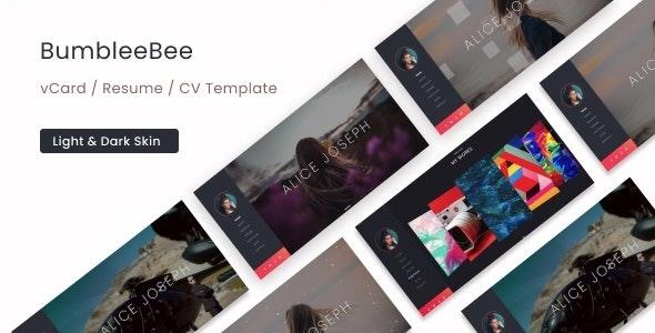 BumbleBee - vCard / Resume / CV Template - Portfolio Creative