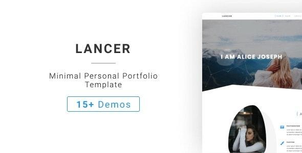 Lancer - Minimal Personal Portfolio Template - Personal Site Templates