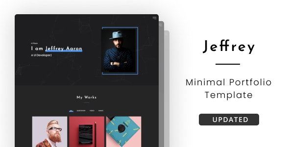 Jeffrey - Personal Portfolio Template - Portfolio Creative