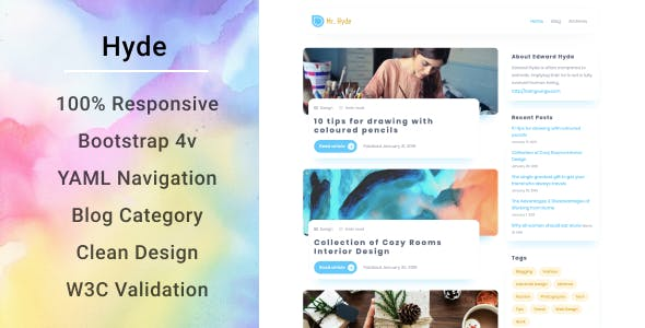 Download Hyde | Minimal Blog Theme