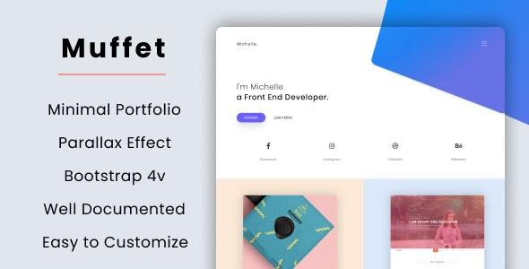 Muffet - Minimal Portfolio - Personal Site Templates