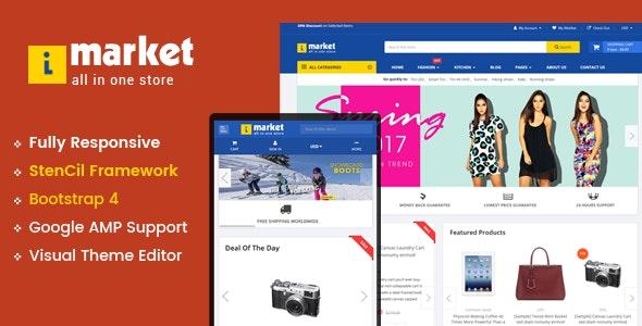 iMarket - Multipurpose Stencil Responsive BigCommerce Theme & Google AMP Ready - BigCommerce eCommerce
