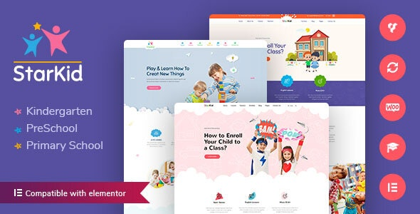 StarKid | Kindergarten WordPress Theme - Education WordPress