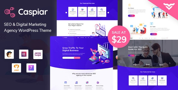 Caspiar | Digital Marketing & Agency WordPress Theme - Marketing Corporate