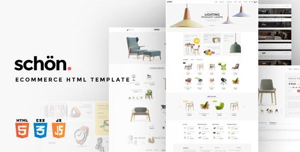 schön.   eCommerce HTML Template - Retail Site Templates