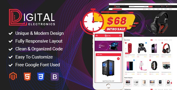 Digital - Responsive Magento 2 Shopping Theme - Magento eCommerce