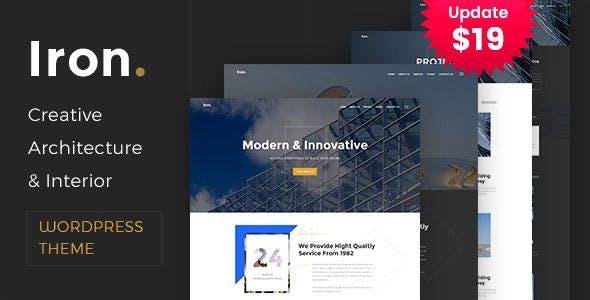 Iron - Architecture, Interior and Design WordPress Theme